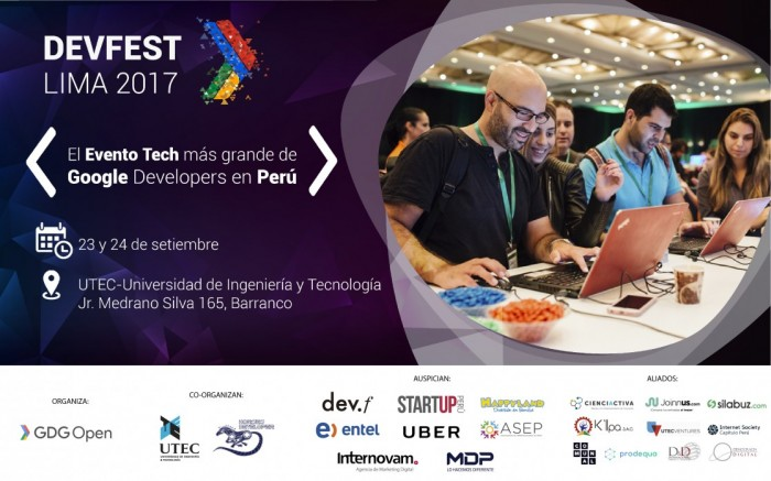 DevFest Lima 2017 / Charlas y conferencias / Joinnus