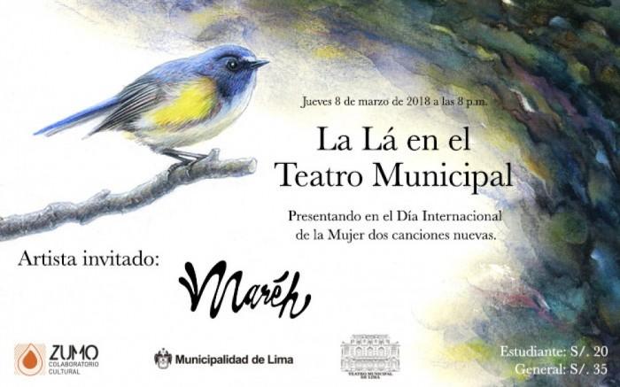 La Lá en el Teatro Municipal / Arte y cultura / Joinnus