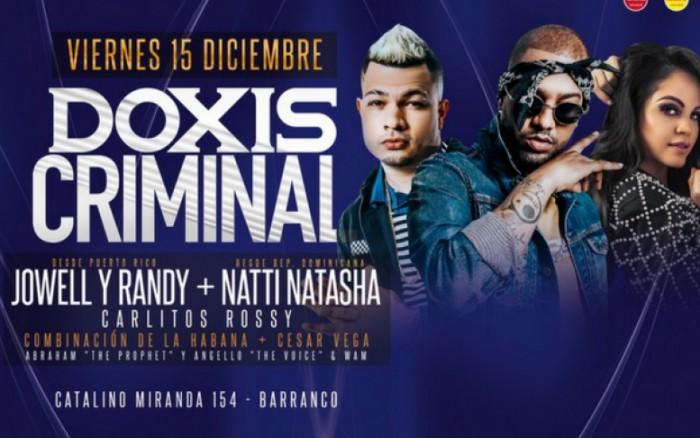 Doxis Criminal con Jowell y Randy y Natti Natasha / Conciertos / Joinnus