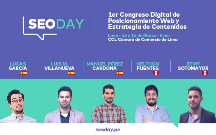 SEODAY 1er Congreso de SEO y Estrategia de Contenidos / Charlas y conferencias / Joinnus