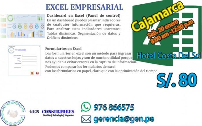 Aprende Excel Empresarial en Cajamarca /  / Joinnus