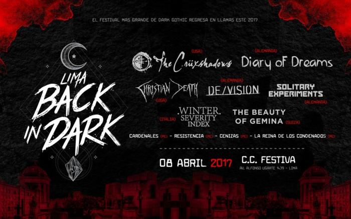 Lima Back in Dark 2017 / Entretenimiento / Joinnus
