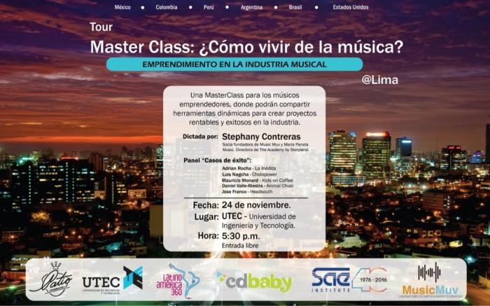Master Class: ¿Cómo vivir de la música? /  / Joinnus