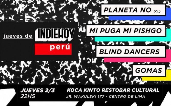 Jueves de INDIE HOY - Edición Perú #1 /  / Joinnus