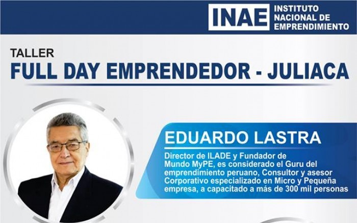 TALLER FULL DAY EMPRENDEDOR- JULIACA /  / Joinnus