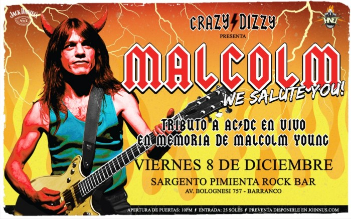 Malcolm, We Salute You: Tributo a AC/DC con Crazy Dizzy /  / Joinnus
