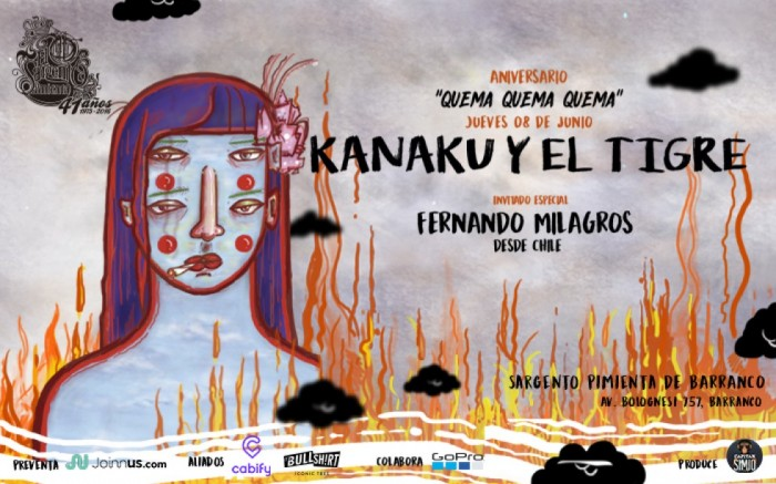 Kanaku Y El Tigre // 'Aniversario Quema Quema Quema' / Entretenimiento / Joinnus