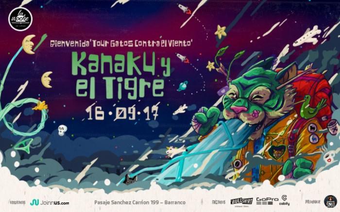 Kanaku Y El Tigre: Bienvenida 'Tour Gatos Contra El Viento' /  / Joinnus