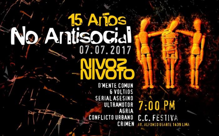 Ni Voz Ni Voto - No Antisocial 15 Años / Entretenimiento / Joinnus