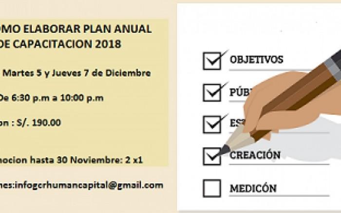 Como hacer Plan Anual de Capacitación 2018 / Charlas y conferencias / Joinnus