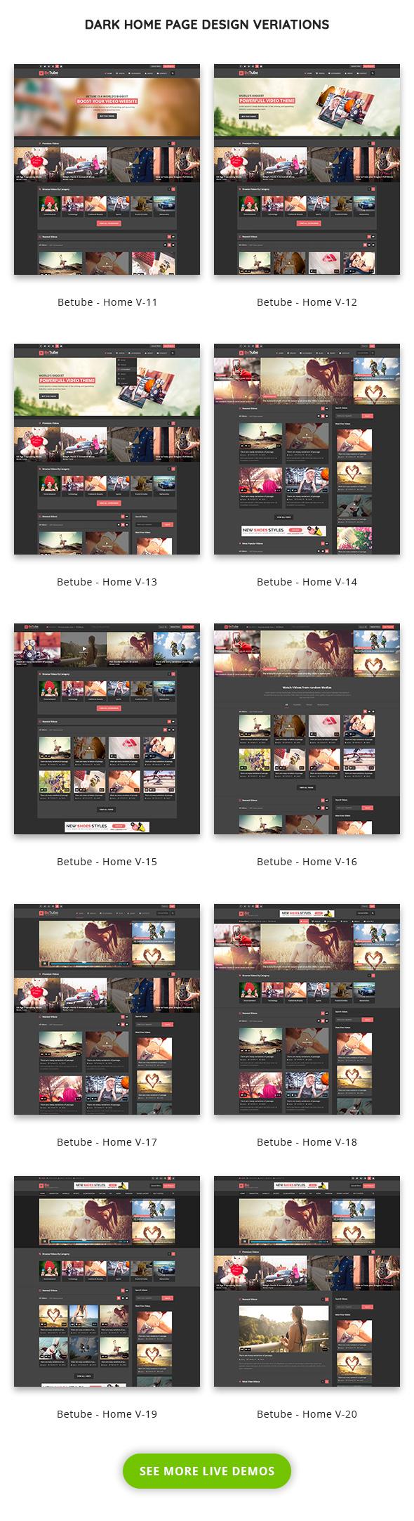 Betube видео журнал WordPress тема