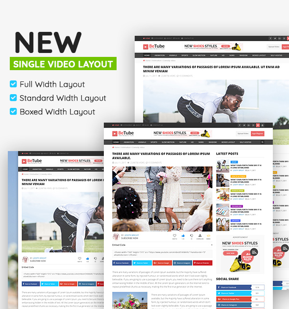 betube video magazine wordpress theme