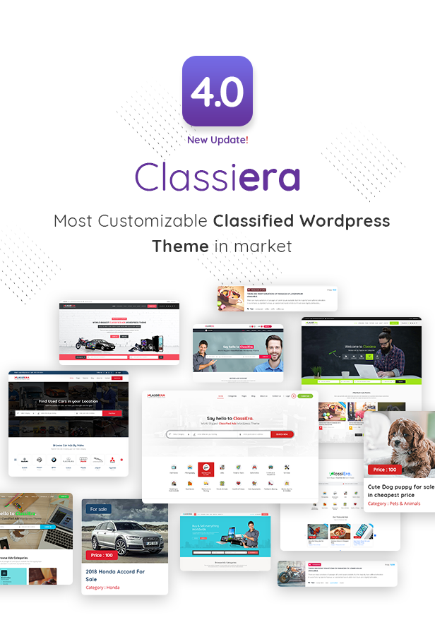 Classiera is Biggest Classified WordPress Theme