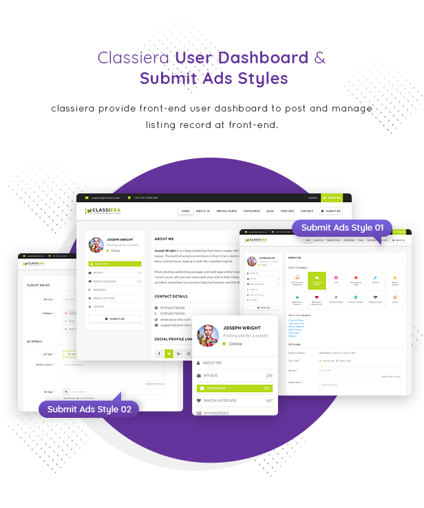 Dashboard Classified Theme