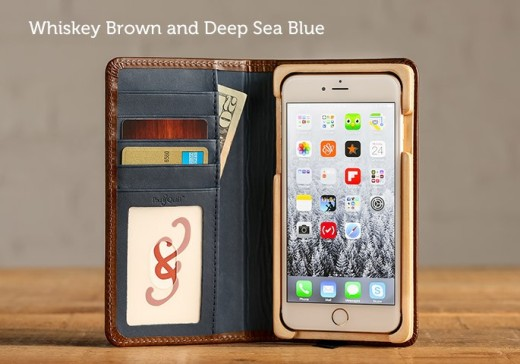 PadAndQuill - Luxury Book in Whiskey Brown and Deep Sea Blue