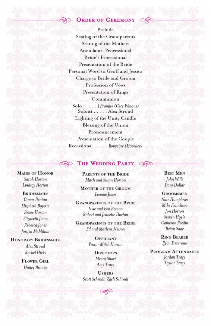 Wedding Programs Wedding Programs By Shine Script Wedding Programs