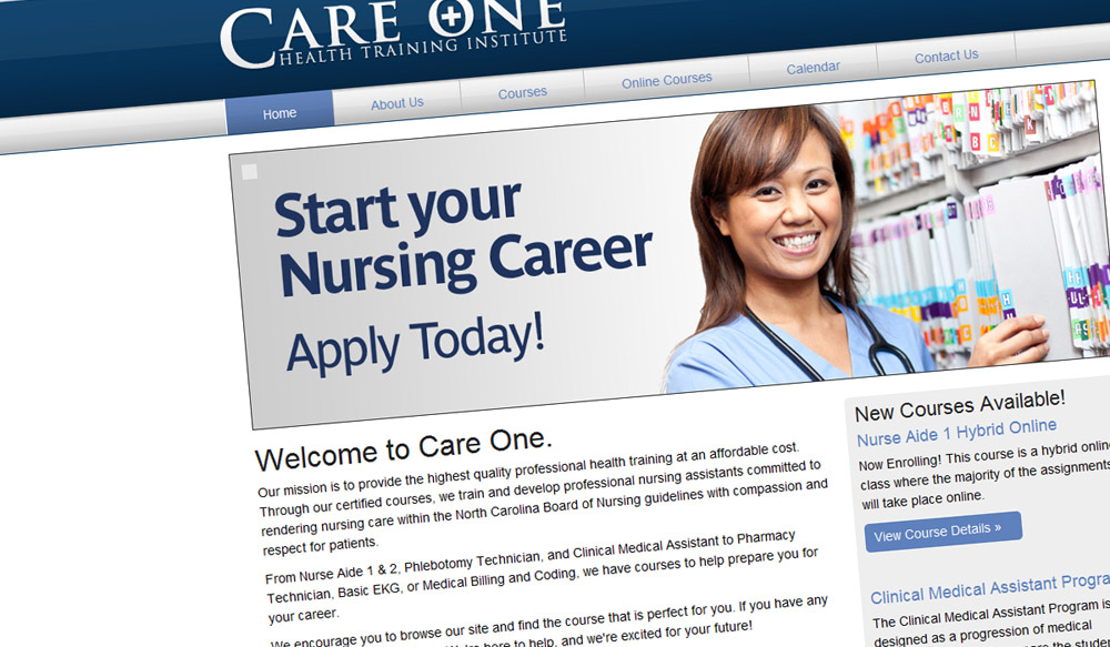 Care One Health Training Institute Redesign