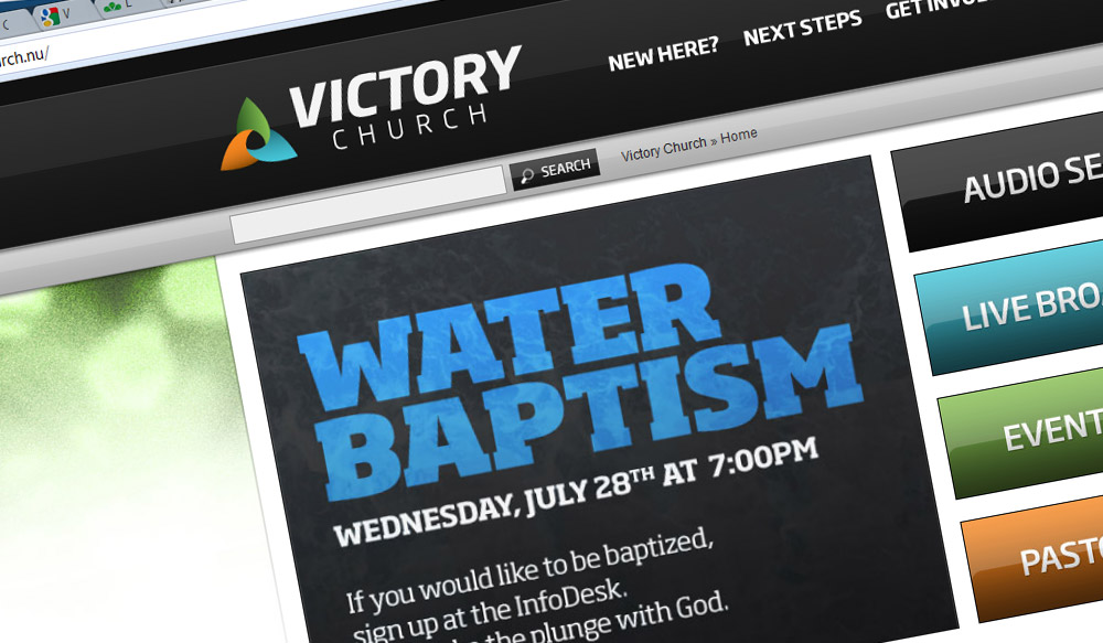 Victory Church Website Redesign