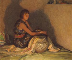 [Leaf Down—Taos Indian Girl]