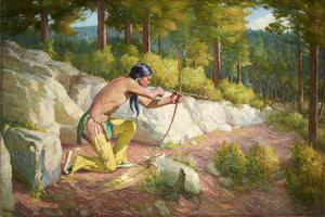 [Taos Indian Hunter]; Indian Hunter. (Early Morning); Indian Hunter, Early Morning