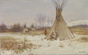 In Winter's Embrace—Mont. (Crow); In Winter's Embrace, Old Skin Teepee, Crow Res.