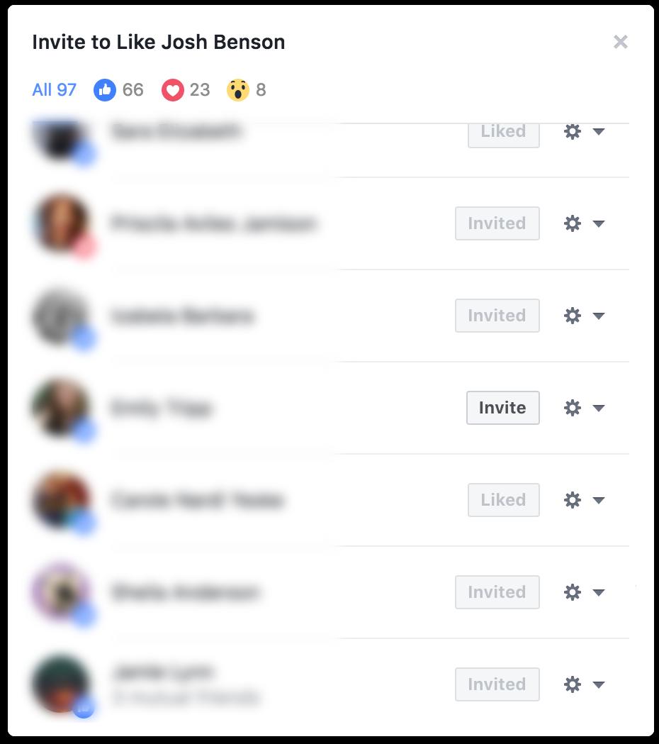FB page invite block