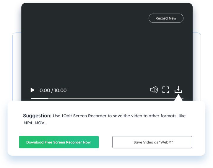 Salvar o vídeo de tela