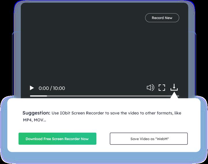 Sla uw video op – Online Screen Recorder