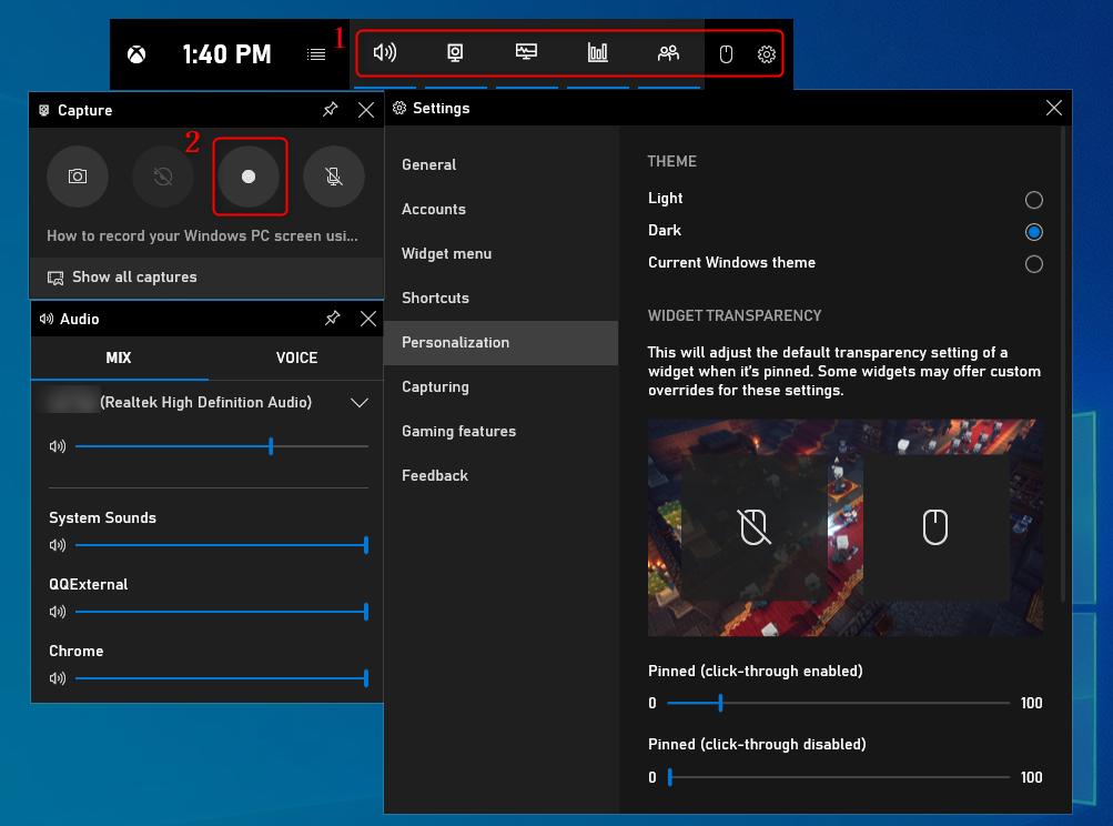 Beginnen met Opnemen – Xbox Game Bar