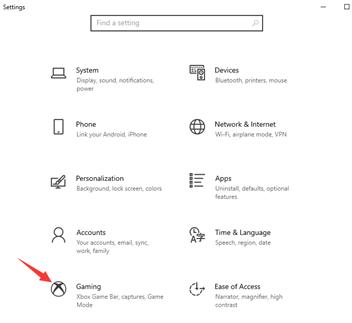 Hur Du Spelar in Din Skärm på PC för Windows 10 - Steg 1