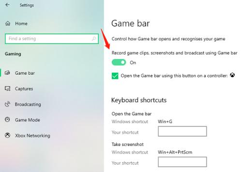 Gratis scherm opnemen met geluid - Xbox Game Bar