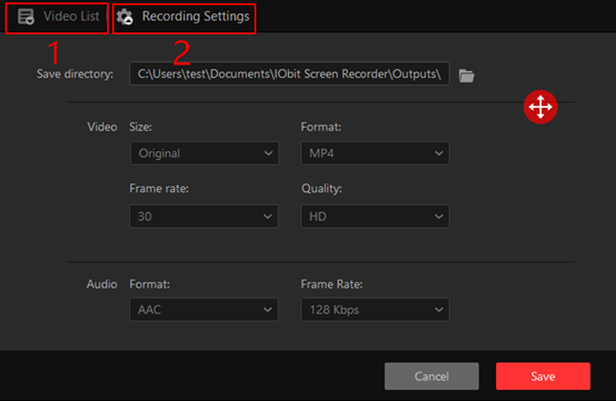 Hur man använder IObit Screen Recorder - Steg 3