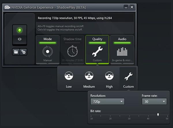 Grave a jogabilidade no PC com Nvidia