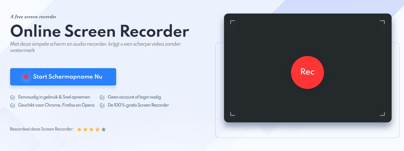 Schermopname maken met de gratis IObit Online Screen Recorder