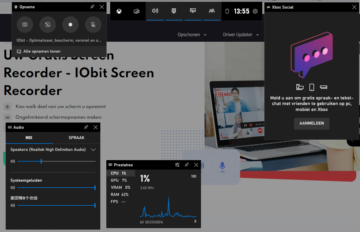 Video openemen met de Windows 10 Xbox Game Bar