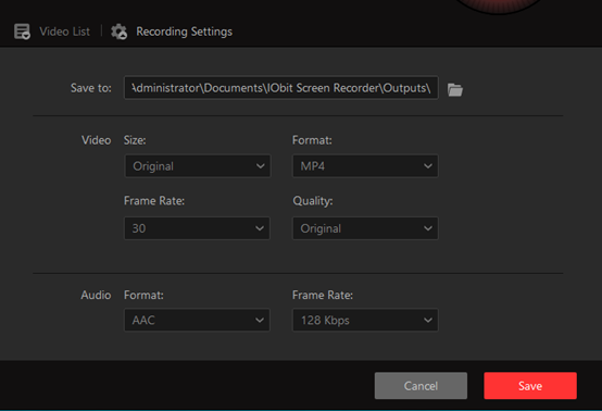 Adjust Settings Before Recording Your Screen with IOBit