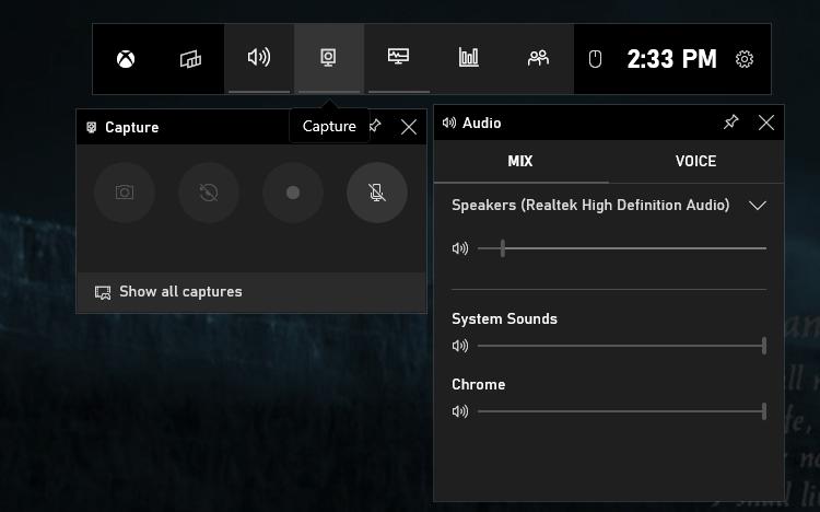 Gravar tela com a Xbox game bar