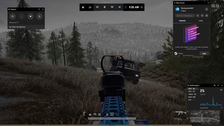 Como gravar um jogo PUBG com áudio - Barra de jogos Xbox
