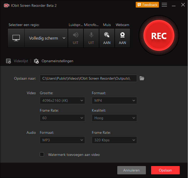 Hoe kan ik mijn PowerPoint opnemen? IObit Screen Recorder