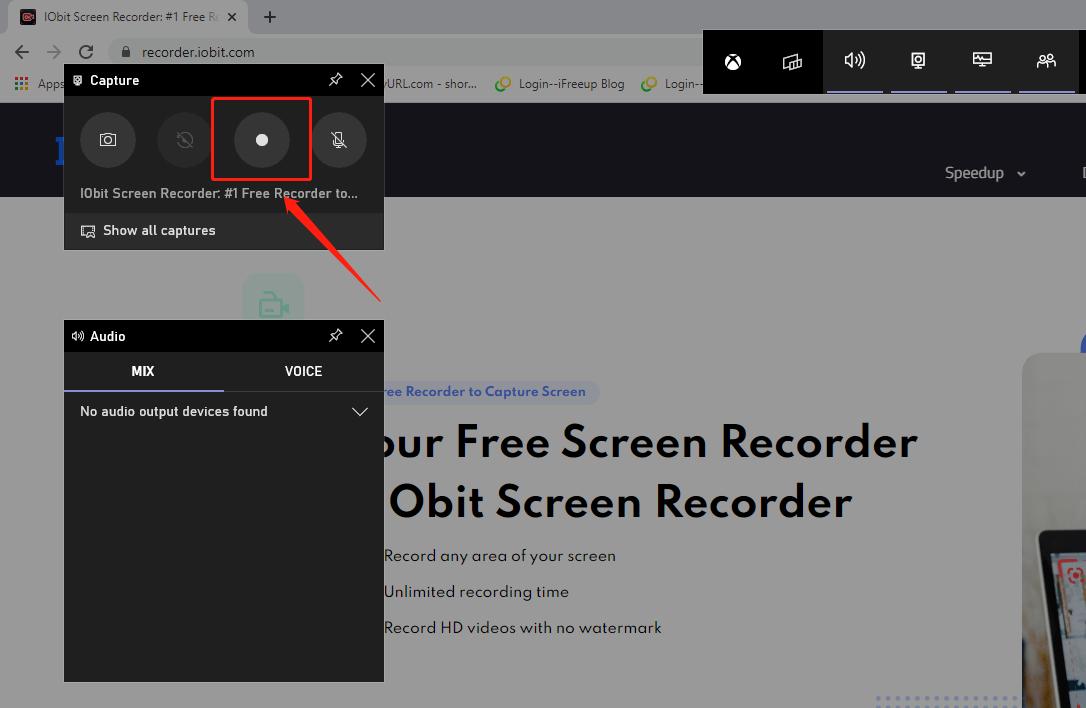 Ferramenta integrada para gravar tela no Windows 10 – passo 1