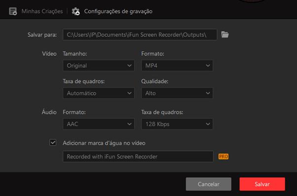 Como usar o gravador de tela Iobit – passo 3