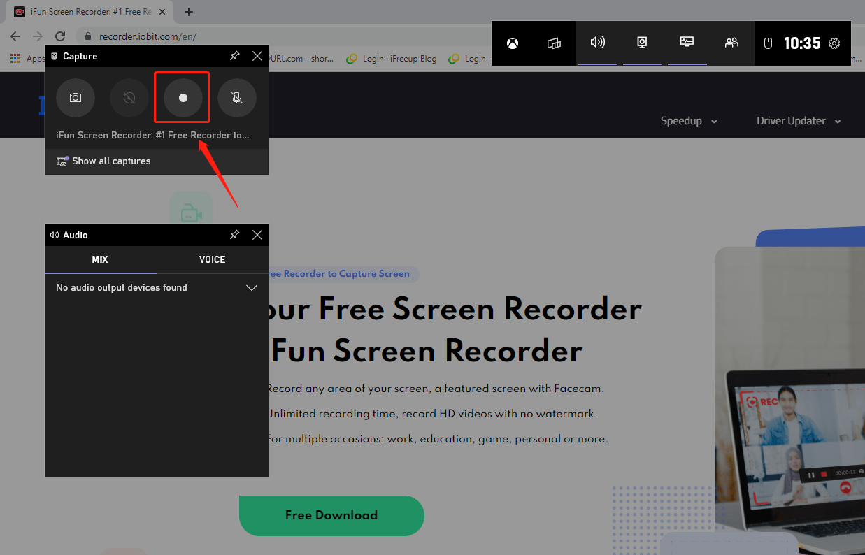 Built-in Tool to Record Screen on Windows 10