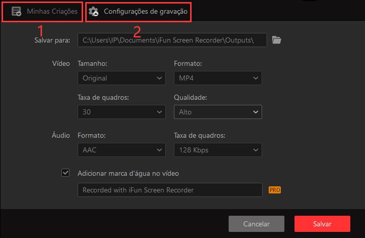 Como usar o IObit Screen Recorder - Passo 2