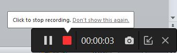 Come registrare lo schermo con audio su iPhone - Stop