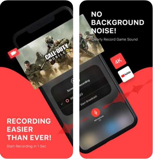 Come registrare lo schermo su iPhone con l'audio - App