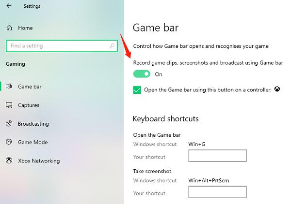 Spela in din skärm på Windows 10 med Xbox Spelfältet