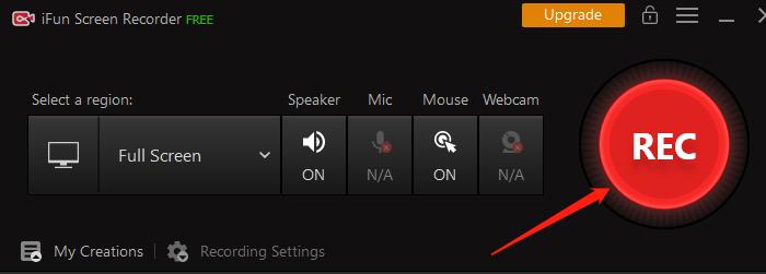 Spela in Skärm på Windows10 - Steg 3