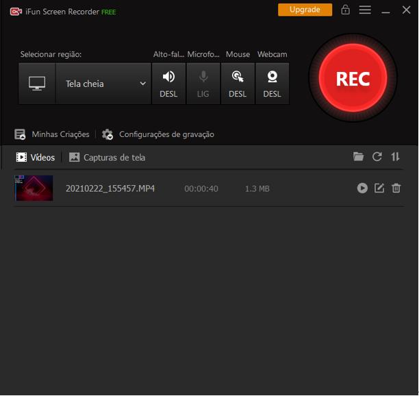 Como gravar áudio no PowerPoint em 4 passos – Passo 4: Lista de Vídeos do IObit Screen Recorder
