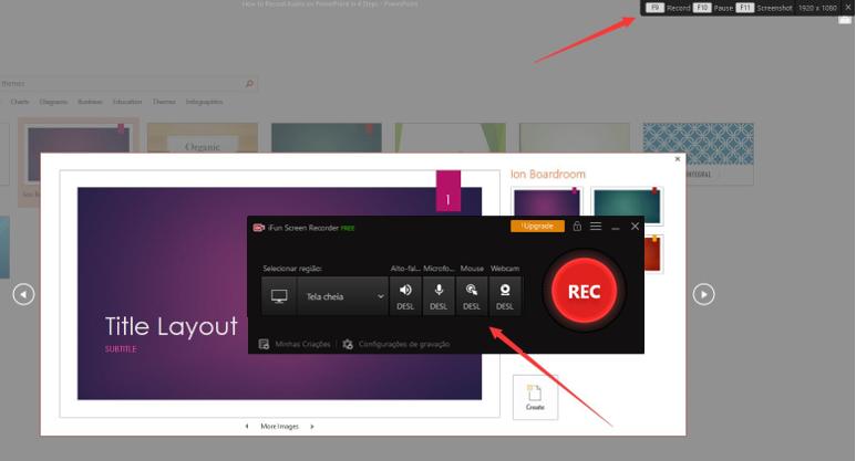 Como gravar áudio no PowerPoint em 4 passos - Passo 3: Iniciar a gravação