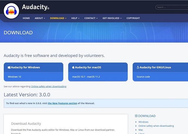 Audacity - jeden z najlepszych rejestratorów audio